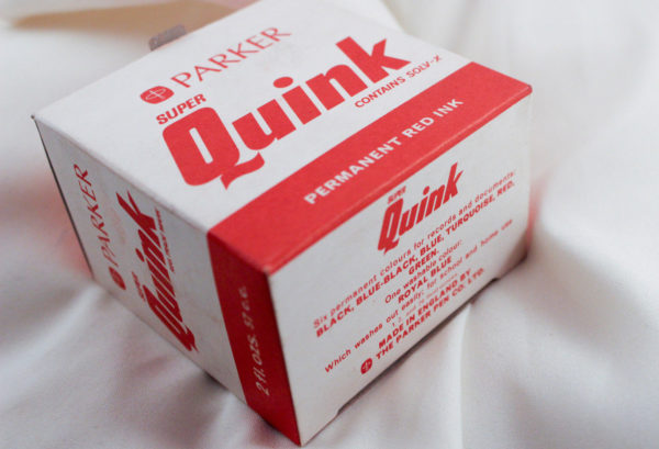 Details about Vintage Parker Super Quink Solv - X Permanent RED Ink (NEW NEVER BEEN OPENED)