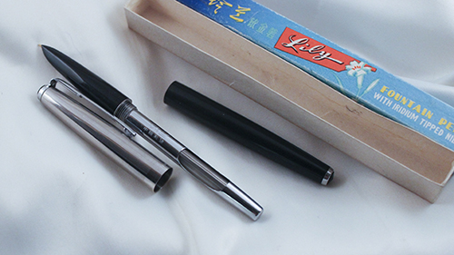 "Vintage Rare ""Lily 715"" Fountain Pen with Iridium Tipped Nib"