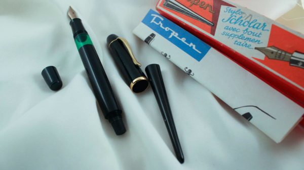 Vintage Tropen Scholar Fountain Pen with Tail End