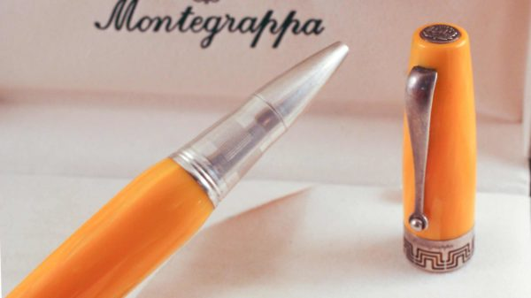 Montegrappa Miya Yellow Celluloid Pen Sterling Silver 925 trim