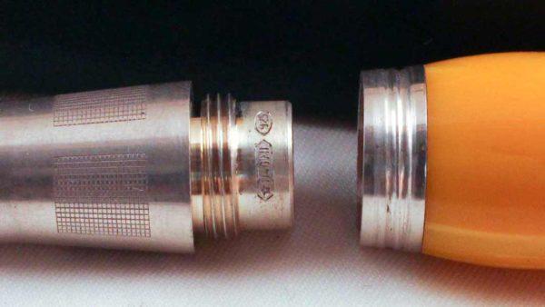 Montegrappa Miya Yellow Celluloid Pen Sterling Silver 925 trim
