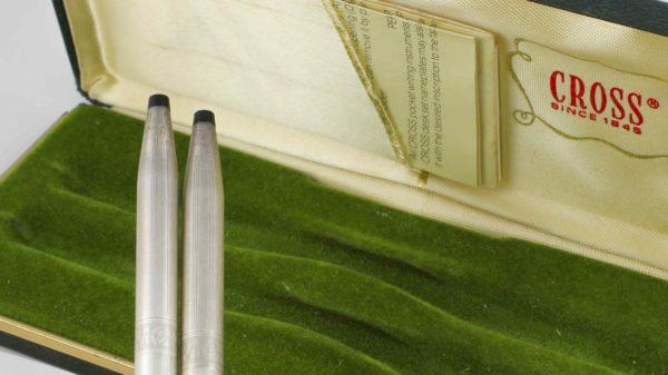 Cross Vintage Rare Lady Cross Pen Mechanical Pencil Set Sterling Silver 925