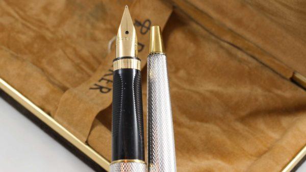 Parker Premier Grain d'Orge silver plated Fountain Pen & Mechanical Pencil Pen