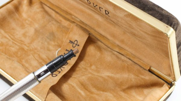 Parker Premier Grain d'Orge silver plated Fountain Pen & Mechanical Pencil Pen