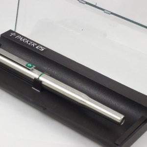Best Pen Shop Collectable Rare Parker 25 Fountain Pen - Mark 1 Mk I Flat Top Green