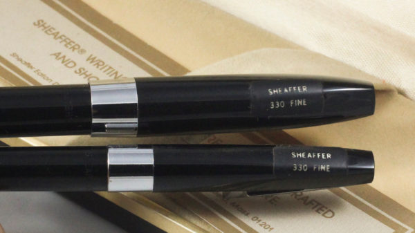 Best Pen Shop | Sheaffer 330 (Imperial) Fountain Pen Set - BLACK FINE - FP & BP4