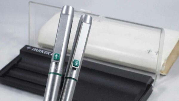 Parker 25 Fountain Pen And Ballpoint Set | Flat Top Green ( New ) by Best Pen Shop