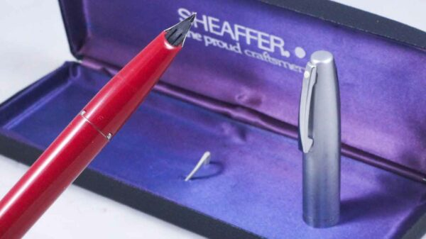 Sheaffer 440 (Imperial) Fountain Pen - Red with Fine Nib - (New Old Stock) by Best Pen Shop